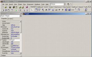 Borland C++ Builder, przykład środowiska typu RAD