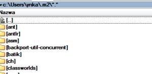 Domyślna lokalizacja lokalnego repozytorium Mavena w systemie Windows