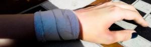 Mój nadgarstek dziś przy kawie :)